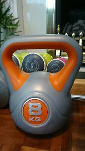 Kettle bells york kettlebells Dumbbells Weights 8kg gym equipment bench dumbells