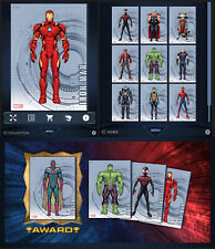 TURN TILT SERIES 2 CHARACTERS-10 CARD SET-TOPPS MARVEL COLLECT DIGITAL