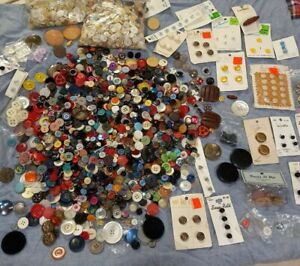 HUGE Lot Mostly Vintage BUTTONS 4 LBS OF some rare and vintage buttons