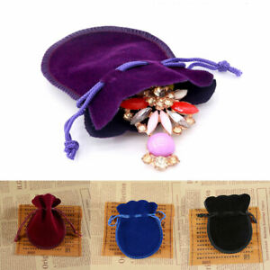 Drawstring Gift Bag Velvet Cloth Jewelry Pouch Wedding Party Favors Pouches Bag