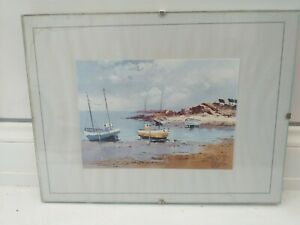 NICE ITEM...NAUTICAL...WALL HANGING..BEACH...BOATS...COTTAGE..PICTURE