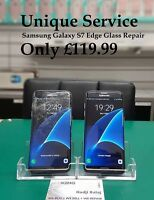 Samsung Galaxy S7 EDGE - Cracked Glass Repair Service(LCD must work) BLACK/GOLD