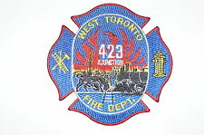 Canadian Fire Department Station Patch 423 Junction West Toronto