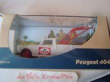 PEUGEOT 404 PICK UP DEPANNEUSE PUB AVIA  1/43 NEUVE PAR ELIGOR