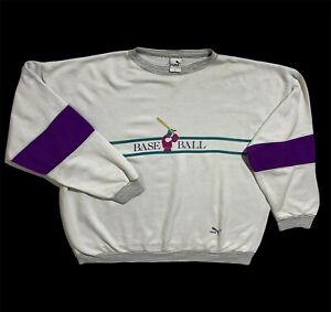 Men`s RARE Vintage PUMA Baseball Sweatshirt Size 6 made in Italy
