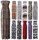 Mujeres Damas Estampado Sin Correas vestido largo de verano Talla Grande 8-22