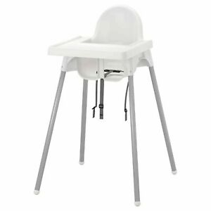 IKEA Baby Feeding High Chair Safety Belt Tray Kid Infant Meal Safety White Chair