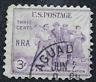 Sello 3 Centavos USA Recuperacion Nacional  N.R.A. Año 1933 - Scott 732.