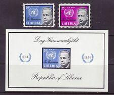 Liberia # 401 & C137-38 MNH Complete Hammarskjold UN