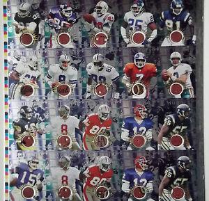 1996 Edge Advantage JOHN ELWAY DAN MARINO Super Bowl Game Used Ball Uncut Sheet