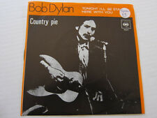 BOB DYLAN Country Pie Swedish picture sleeve
