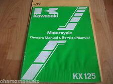 Kawasaki KX125-B2 Owner Owners Owner's & Service Manual  99920-1212-01