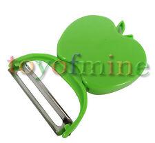 Pliable légumes en plastique forme pomme d'Apple Peeler Parer Cutter Fruit vert