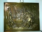 """Vintage Brass Wall Plaque The Painter & Family David Teniers 27 1/4"""" X 21 3/4"""""""