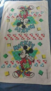 "VINTAGE MICKEY MOUSE BATH TOWEL Walt Disney Bathroom by Cannon 39 x 23"" Cotton"