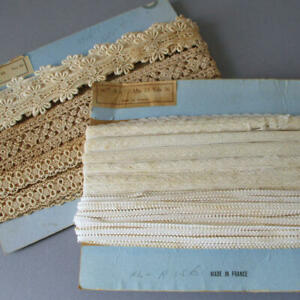 """2 Bolts Vintage French LACE Embroidered + VALENCIENNES Trims 3/16""""-1 1/4"""" Wide"""