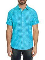 Robert Graham Diamante S/S Tonal Print Sport Shirt, Classic Fit