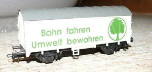 C20  Roco  ged. Güterwagen Bahn fahren Umwelt bewahren