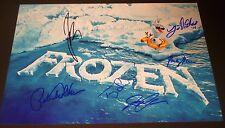 "Disney's FROZEN Crew(x6) Authentic Hand-Signed ""OLAF"" 11x17 Photo (EXACT PROOF)"