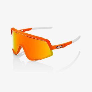 100% Glendale Sunglasses - Neon Orange (HiPer Red Mirror Lens)