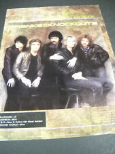 Franke & The Knockouts Sweet As Sugar - Hard As Rock 1981 Promo Poster Ad mint