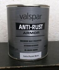 Valspar 44232 Anti-Rust Armor, Oil Based Enamel, Satin Pastel Base, 1 Qt.