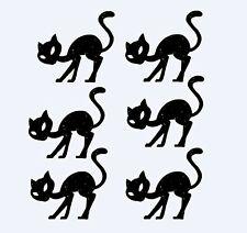 """Set of 6 Black Cats Die Cuts 4"""" H"""