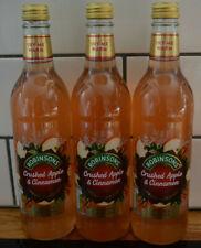3 Robinsons Steviol Crushed Apple Cinnamon Fruit Cordial Winter Edition Free P+P