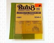 Run 8 HO Parts: Rail Power EMD SD45-2 Window Kit 1881