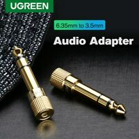 UGREEN 6.35mm 1/4 inch Male to 3.5mm 1/8 inch Female Stereo Audio Adapter Gold