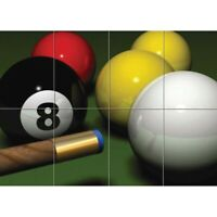 Pool Billiards Snooker Giant Wall Mural Art Poster Print 47x33 Inches
