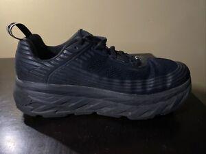 Hoka One One Bondi 6 Black Running Shoes Women Size 9.5 D