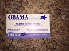 2004 Barack Obama Illinois Senator Business Card