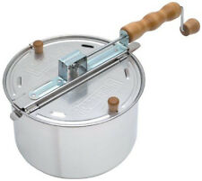 Wabash Valley Farms Silver Whirley Pop 6 qt Stovetop Popcorn Popper Maker 25008A