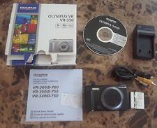 Olympus VR VR-350 16.0MP Digital Camera Black V Series 10X Zoom 24 mm w/ Box