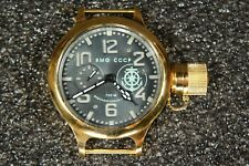 Russian USSR Soviet Divers watch Zlatoust. VMF CCCP Star Anchor. Gold Case. 700m