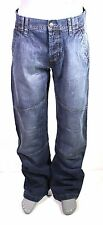 X6-60 Wrangler Parker Hommes Jeans Bleu w31 l34 Loose Fit Zip Fly Worker NEUF