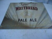 Ancien miroir sans cadre en bois publicitaire pour la bière Whitbread