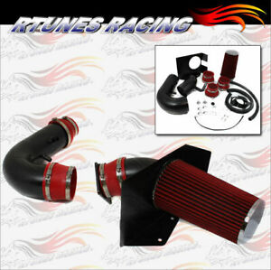 Rtunes Matte Black / Red 97-03 F150/Expedition V8 Heat Shield Cold Air Intake