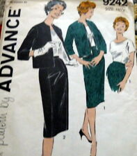 LOVELY VTG 1950s SUIT & BLOUSE ADVANCE Sewing Pattern BUST 37