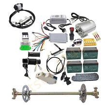 """DIY Go Kart ATV 29"""" Rear Axle Kit 48v 1800w Brushless Motor Controller Batteries"""