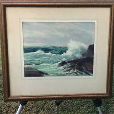 RAYMOND NOTT Original 1948 SEASCAPE PASTEL MID CENTURY MODERN IMPRESSIONIST ART