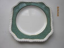 Johnson Bros Powder Border Square Salad plate made in England green and white