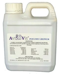 AviVit ® Chick/Grower. Professional grade Poultry Vitamins/Minerals - 3 Sizes