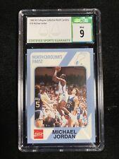 1989 North Carolina Michael Jordan Collegiate Collection Rookie CSG MINT 9 #18