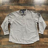 Pendleton Button Down Shirt Men's XL Plaid Wrinkle Resistant Broadway Cloth L/S