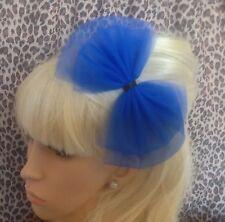 Arco Grande Azul Real Tul Tutu neto Alice Cabello Head Band 80s Retro Partido Fancy