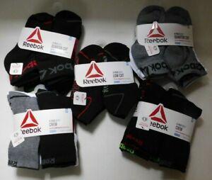 Boys Socks Reebok Low Cut Crew or Quarter Cut Size Medium 8.5-2 Shoe