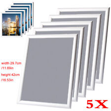 5x Aluminium A3 Snap Poster Frame Clip Picture Photo Holder Art Exhibition UK