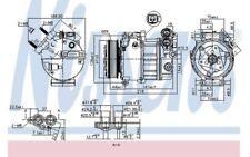 NISSENS Compresor aire acondicionado 890125